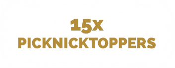 15 x picknicktoppers
