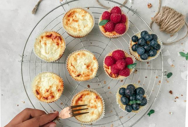 Tricolore Mini Cheesecakes