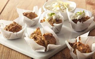 Havermoutmuffins met citroenspread