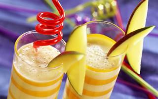 Smoothie banane-mangue