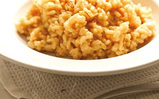 Saffraanrisotto