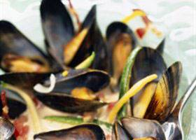 Moules curry-coco