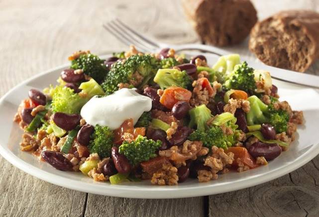 Broccoli chili con carne