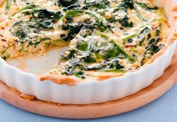 No meat today: vegetarische taart met ricotta en spinazie