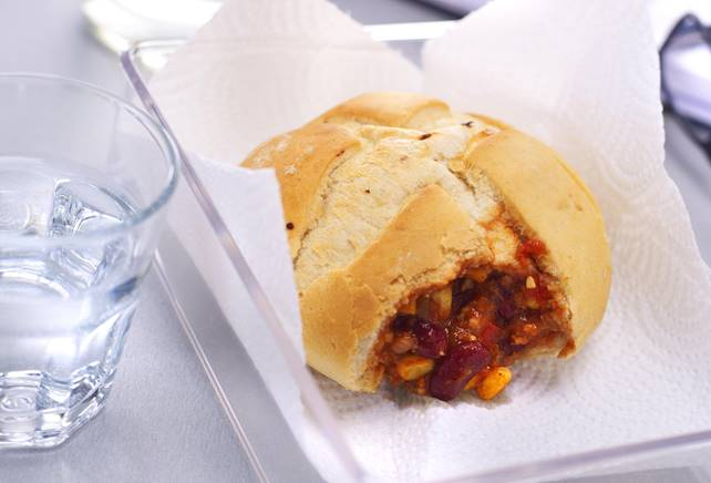 Broodje chili con carne