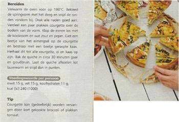 vegetarische quiche met courgette